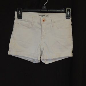 Abercrombie Kids White Shorts  Girls Size 11/12